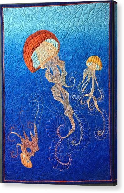 Jellies Of The Sea Canvas Print