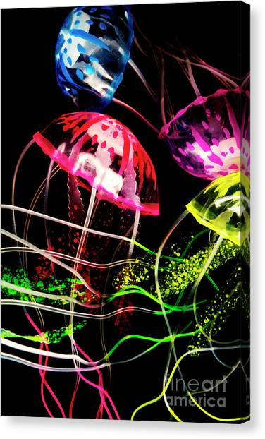 Tanks Canvas Print - Jelly Fish Trails by Jorgo Photography - Wall Art Gallery