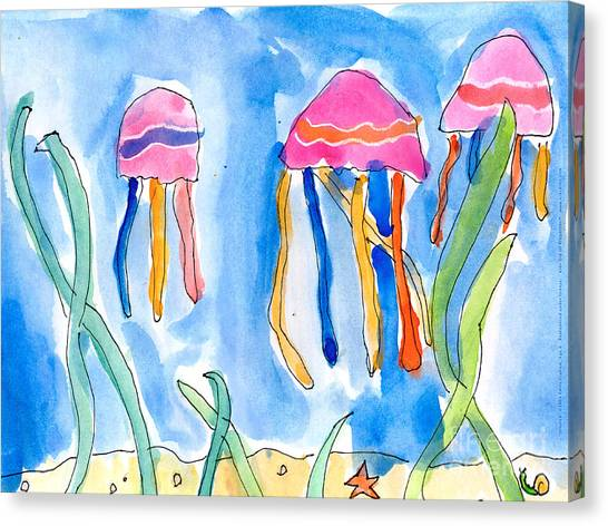 Jellyfish Canvas Print
