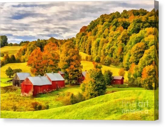 Vermont Canvas Print - Jenne Farm Vermont Painting by Edward Fielding