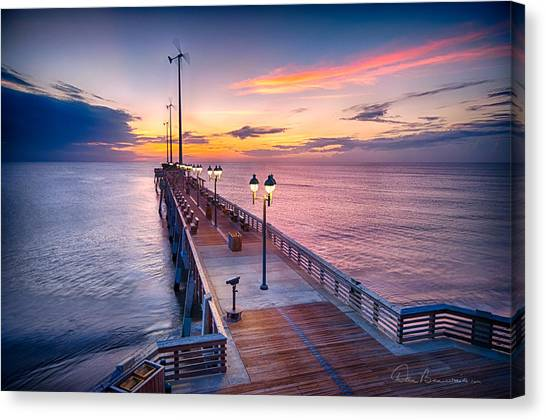 Jennette's Pier - Dawn 7080 Canvas Print