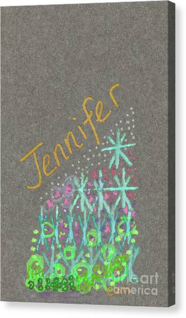 Canvas Print featuring the painting Jennifer 2 by Corinne Carroll