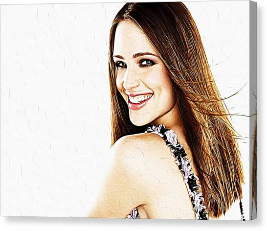 Jessica Alba Canvas Print - Jennifer Garner by Queso Espinosa