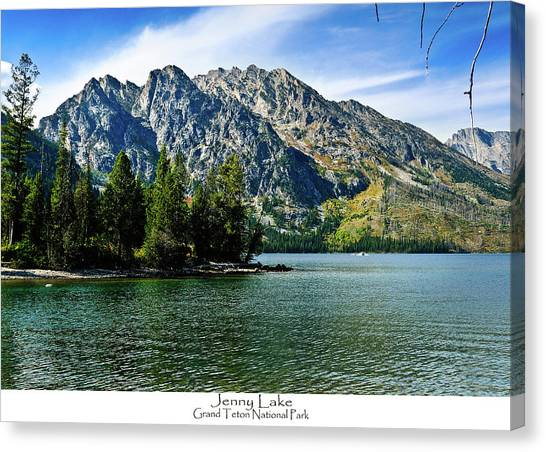 Canvas Print featuring the photograph Jenny Lake by Greg Norrell