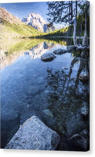 Jenny Lake Canvas Print - Jenny Lake In The Morning II by Jon Glaser