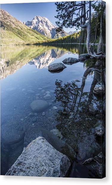 Jenny Lake Canvas Print - Jenny Lake In The Morning by Jon Glaser