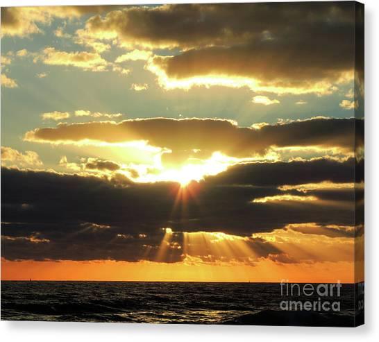 St. Lucie County Canvas Print - Jensen Beach Sunrise 1 by Bill Holkham