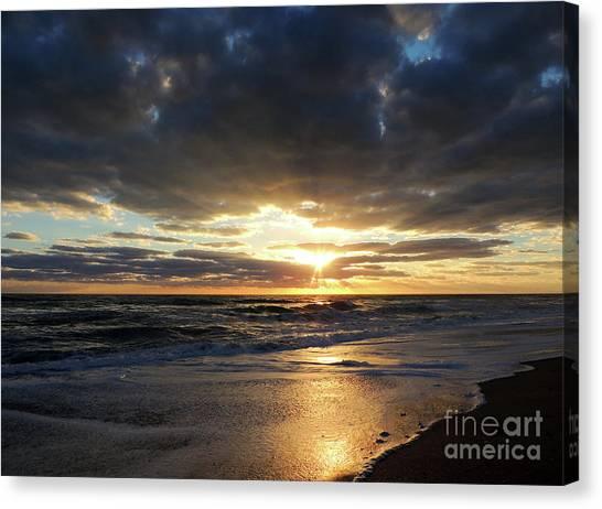 St. Lucie County Canvas Print - Jensen Beach Sunrise 3 by Bill Holkham