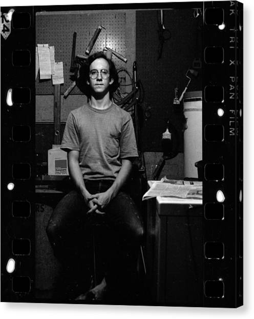 Self Portrait, In Darkroom, 1972 Canvas Print