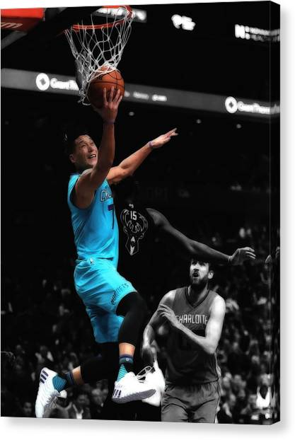 Brooklyn Nets Canvas Print - Jeremy Lin by Brian Reaves