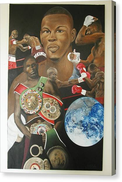 Jermain Taylor Montage Canvas Print by Angelo Thomas