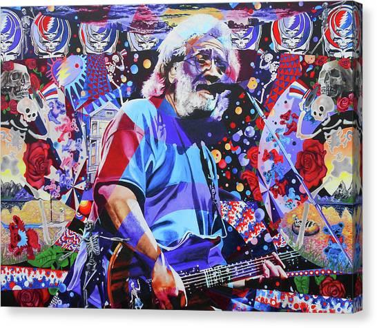 The Grateful Dead Canvas Print - Jerome 14 by Kevin J Cooper Artwork