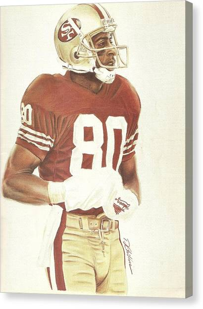 Jerry Rice Canvas Print - Jerry by Darren Chilton