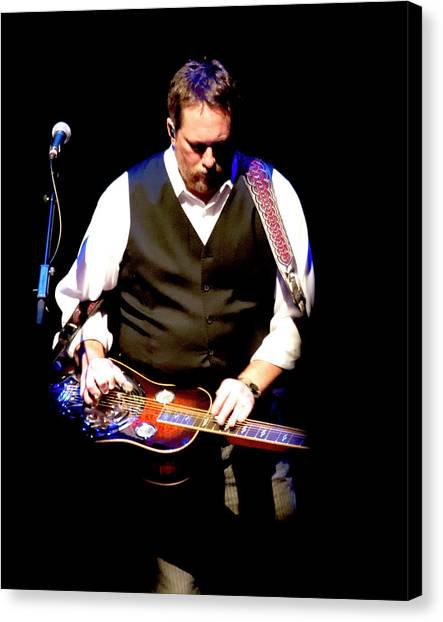 Slide Guitars Canvas Print - Jerry Douglas by Michael Riley