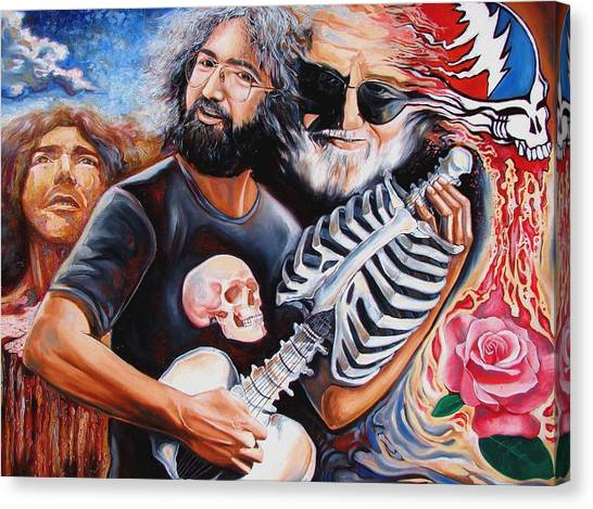 Grateful Dead Canvas Print - Jerry Garcia And The Grateful Dead by Darwin Leon