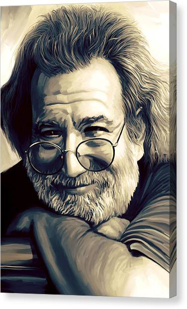 Jerry Garcia Artwork  Canvas Print