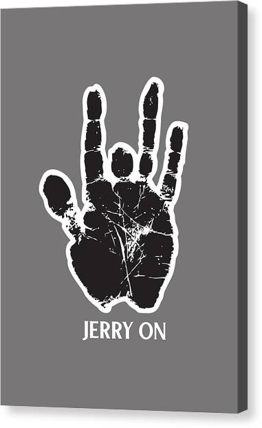 Grateful Dead Canvas Print - Jerry On by Senior gd