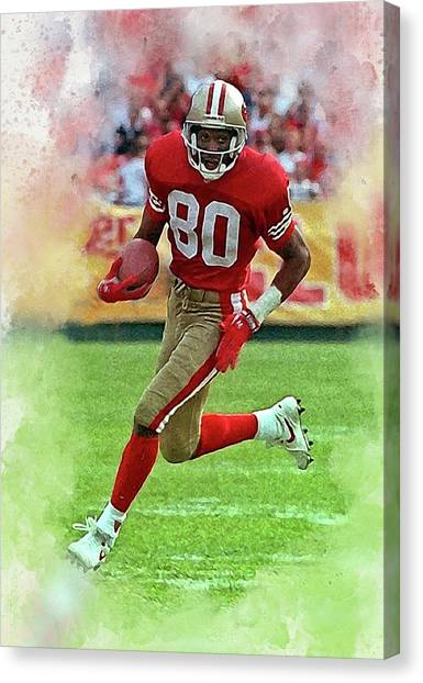 Jerry Rice Canvas Print - Jerry Rice #2 by Karl Knox Images