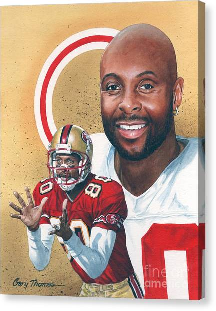 Jerry Rice Canvas Print - Jerry Rice by Gary Thomas