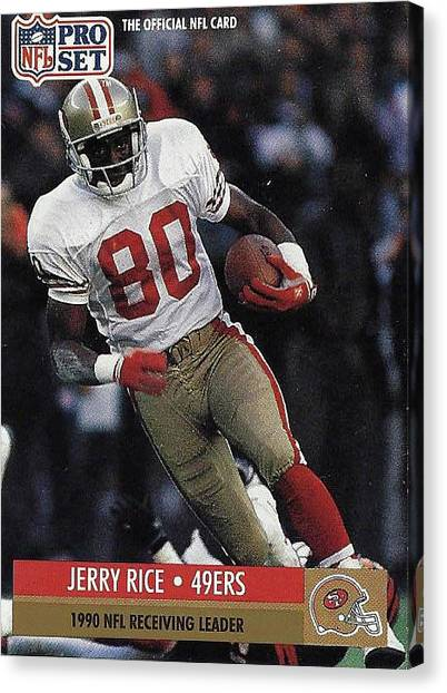 Jerry Rice Canvas Print - Jerry Rice Receiving Leader 49er's by Jay Milo