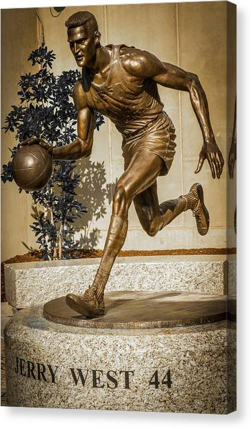 West Virginia University Wvu Canvas Print - Jerry West by Aaron Geraud