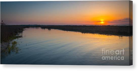 Marsh Grass Canvas Print - Jersey Marsh Sunset by Michael Ver Sprill