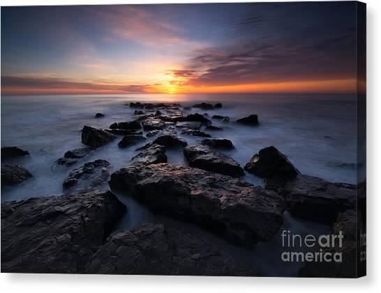 Mv Canvas Print - Jersey Shore Sunrise by Michael Ver Sprill