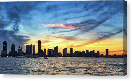 Canvas Print featuring the photograph Jersey Skyline by David A Lane