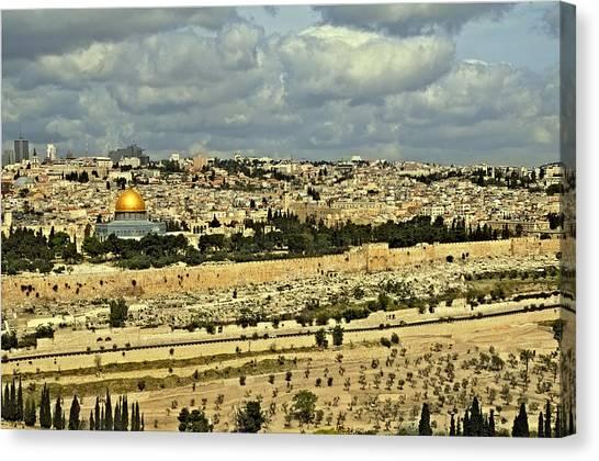 Jerusalem Awaits Her King II Canvas Print by Deb Cohen