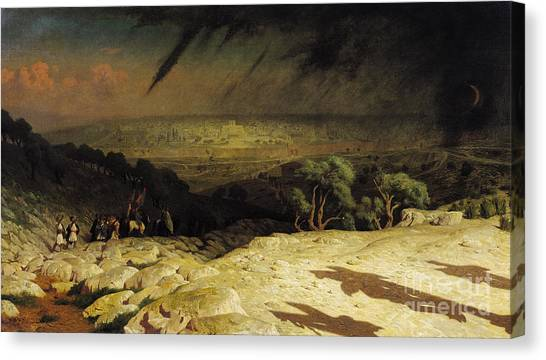 Sin Canvas Print - Jerusalem by Jean Leon Gerome