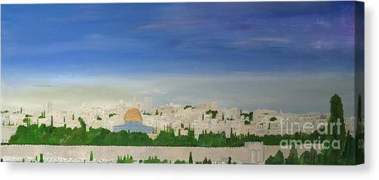 Jerusalem Skyline Canvas Print