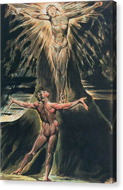 Crucify Canvas Print - Jerusalem The Emanation Of The Giant Albion by William Blake