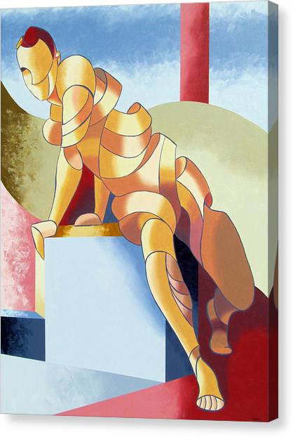 Jesse - Abstract Acrylic Figurative Painting Canvas Print