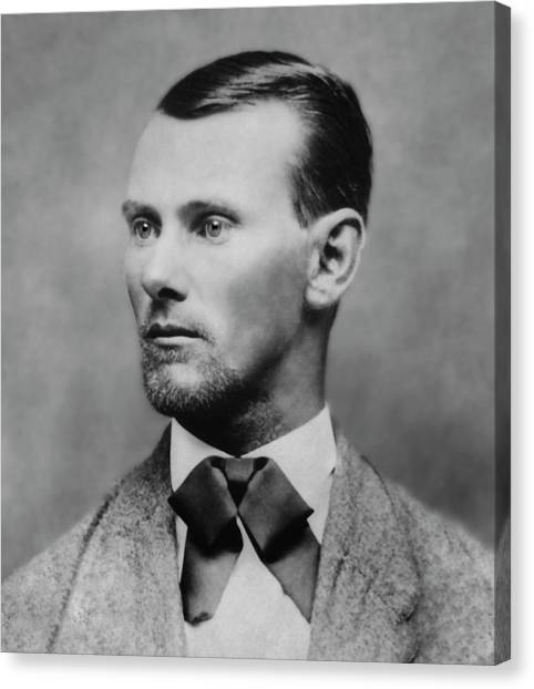 Minnesota Wild Canvas Print - Jesse James -- American Outlaw by Daniel Hagerman