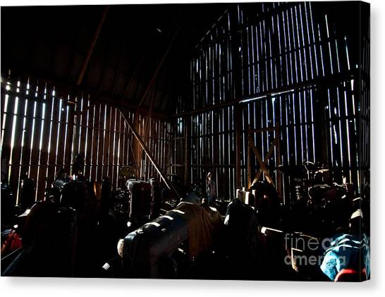 Jesse's In The Barn Canvas Print