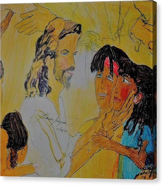 Canvas Print - Jesus And The Children by Love Art Wonders By God