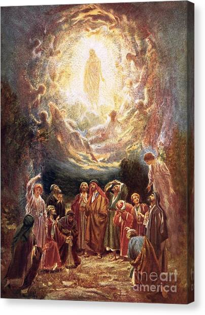Apostles Canvas Print - Jesus Ascending Into Heaven by William Brassey Hole