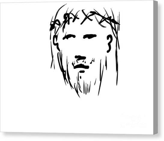 Jesus Christ Head Canvas Print