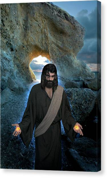 Jesus Christ- I Am With You Always Canvas Print