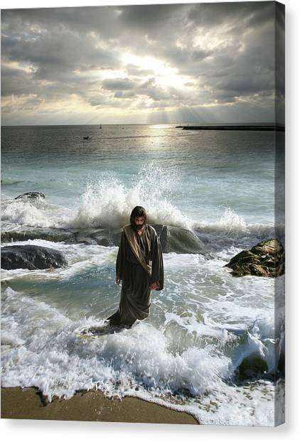 Jesus Christ- I Have Come As A Light Into The World Canvas Print