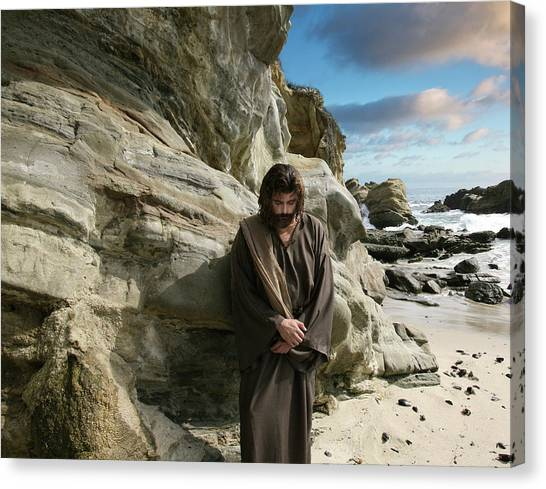 Jesus Christ- I Have Heard Your Prayer And Seen Your Tears I Will Heal You Canvas Print