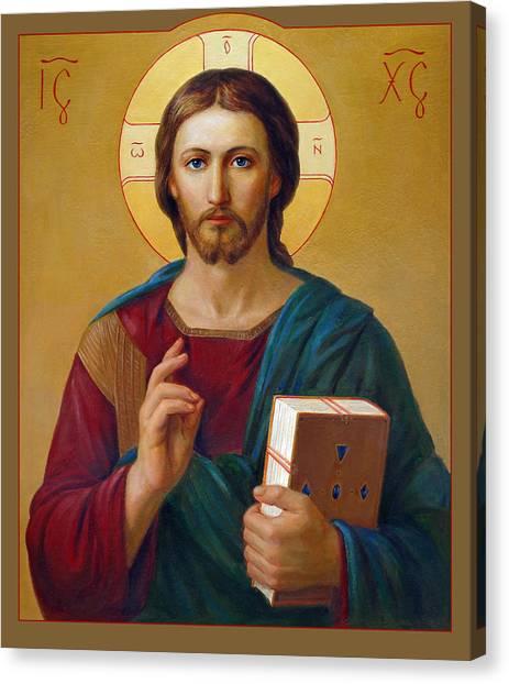 Pastor Canvas Print - Jesus Christ Pantocrator by Svitozar Nenyuk