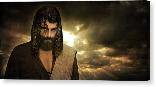 Jesus Christ- Will You Hear Me Shout Come Up Canvas Print