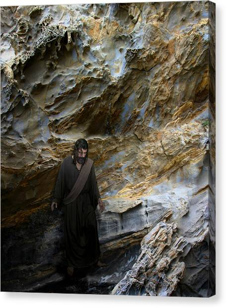 Jesus Christ- You Are My Hiding Place And My Shield Canvas Print