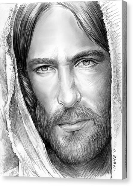 Jesus Face Canvas Print