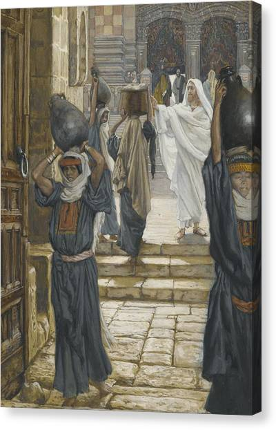 Messiah Canvas Print - Jesus Forbids The Carrying Of Loads In The Forecourt Of The Temple by Tissot