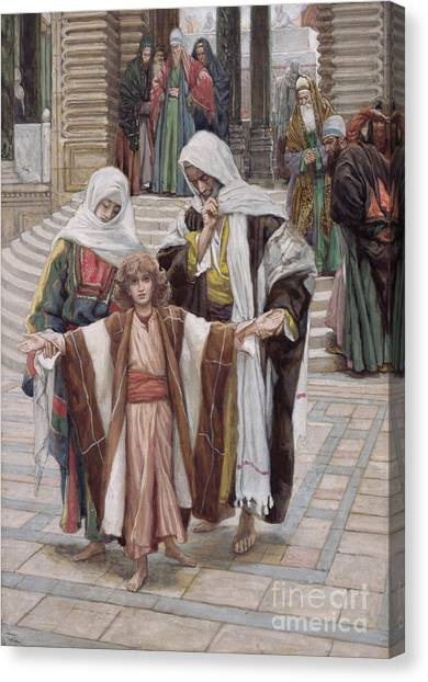 Orthodox Art Canvas Print - Jesus Found In The Temple by Tissot