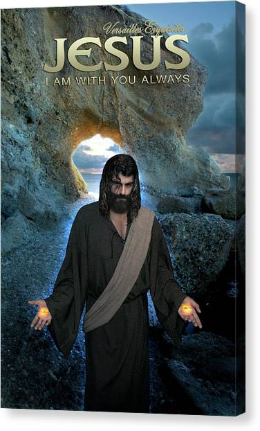 Jesus- I Am With You Always Canvas Print