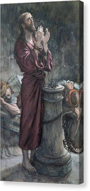 Dungeons Canvas Print - Jesus In Prison by Tissot