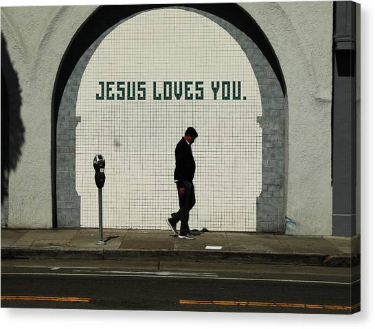 Canvas Print - Jesus Loves You by The Artist Project